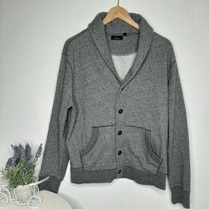 Marc Anthony Shawl Collar Sweatshirt Jacket size L